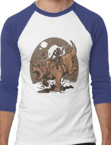 Triceratops CowBot Men's Baseball ¾ T-Shirt
