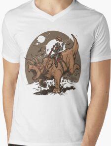 Triceratops CowBot Mens V-Neck T-Shirt