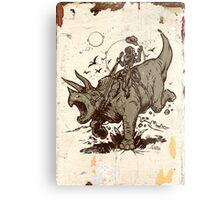 Triceratops CowBot Metal Print