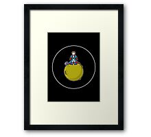 Spaceboy on Asteroid (Inspired by The Little Prince) [Big] Framed Print