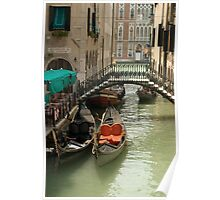 Gondolas On The Canals Of Venice Poster