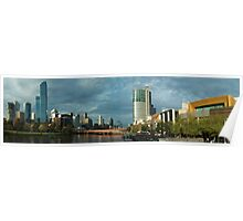 Melbourne City panorama Poster
