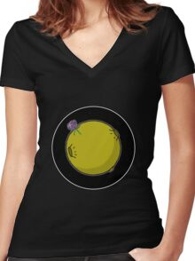 Asteroid [Big] Women's Fitted V-Neck T-Shirt