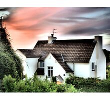 Cottage In The Sky - HDR Photographic Print