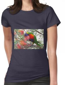 Rainbow Lorikeet ~ Breakfast Womens Fitted T-Shirt