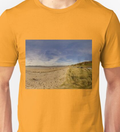 Lisfannon Beach, Fahan, County Donegal, Equirectangular  Unisex T-Shirt
