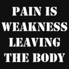 Pain is weakness leaving the body by allabouther