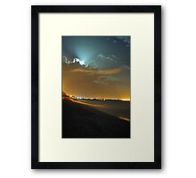 moon rays Framed Print