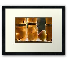 Canned Pears Framed Print