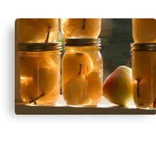 Canned Pears Canvas Print