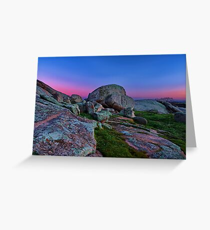 """Dawn At The Rocks"" Greeting Card"
