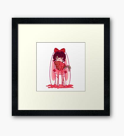 Strawbunny Framed Print