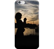 Little photographer in the sunset iPhone Case/Skin