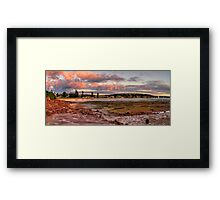Daybreak - Long Reef, Sydney, Australia (Panorama 25 Exposures) Framed Print