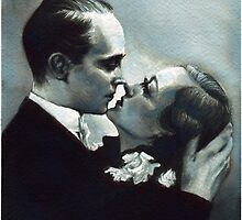 Franchot Tone and Joan Crawford by SophieMcPikeArt