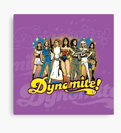 SuperWomen of the 70s - DyNoMite! Canvas Print