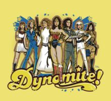 SuperWomen of the 70s - DyNoMite! Kids Tee