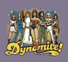 SuperWomen of the 70s - DyNoMite! Kids Tee