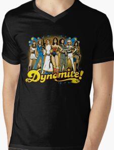 SuperWomen of the 70s - DyNoMite! Mens V-Neck T-Shirt