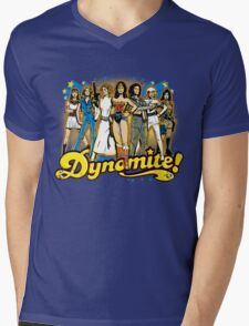 SuperWomen of the 70s - DyNoMite! Mens V-Neck T-Shirt