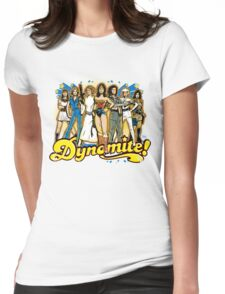 SuperWomen of the 70s - DyNoMite! Womens Fitted T-Shirt