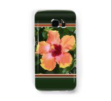 Multi Colored Tropical Hibiscus Artwork Samsung Galaxy Case/Skin