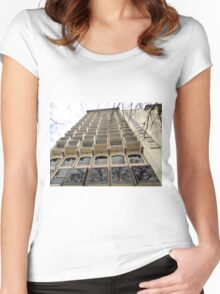 Tall pretty building. Women's Fitted Scoop T-Shirt