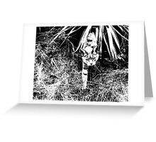 Cat Running out of Bush Greeting Card