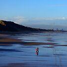 Stroll on the Beach by Trevor Kersley