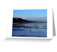 Stroll on the Beach Greeting Card