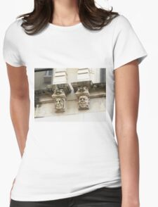 Creepy detail. Womens Fitted T-Shirt
