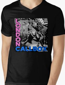 London Callbox Mens V-Neck T-Shirt