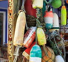 Buoys At The Crab Shack by James Eddy