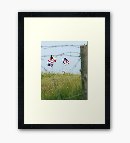 Utah Beach - Freedom Is Worth Fighting For Framed Print