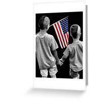 American Boys Greeting Card