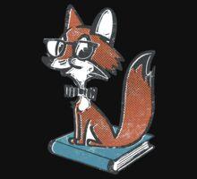 Fox Librarian Baby Tee