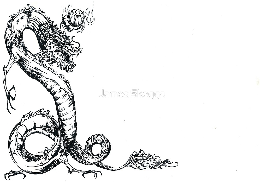 Dragon. Ink by James Skeggs