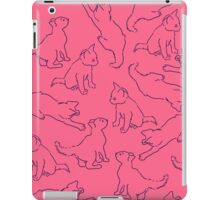 Kitty playing on pink iPad Case/Skin