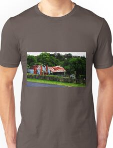 Old Cottages, Hill End Unisex T-Shirt