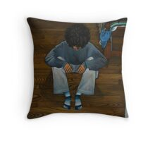 Night of the Rueful Figure Throw Pillow