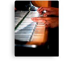 Silver Keyboard Canvas Print