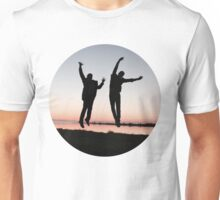Cockles Sunset Jump Unisex T-Shirt