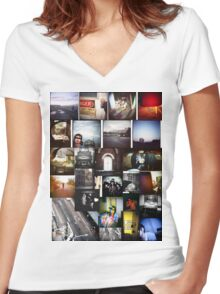 lo-fi tee Women's Fitted V-Neck T-Shirt