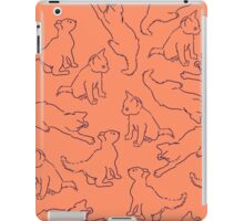Kitty playing on orange iPad Case/Skin