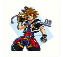 Sora and the Kingdom Key Art Print