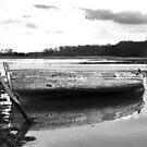 Boat on the Deben, Suffolk by Kerina Strevens