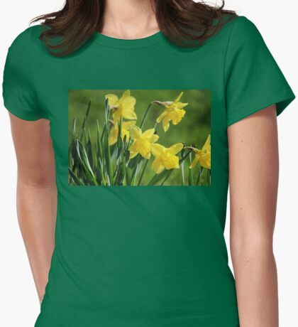 Daffodil Dreams Womens Fitted T-Shirt