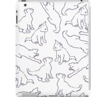 Kitty playing on white iPad Case/Skin