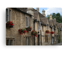 Castle Combe Cottages Canvas Print