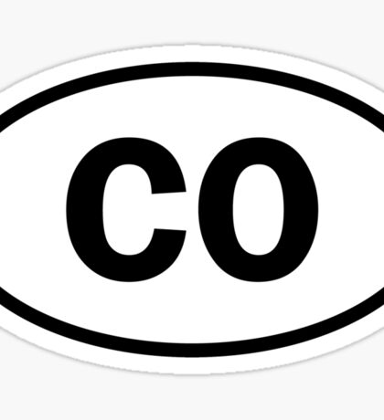 Colorado - CO - oval sticker Sticker